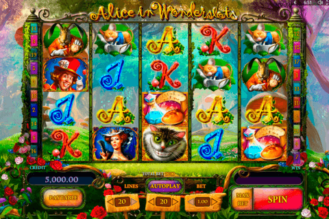 alice in wonderslots playson pacanele