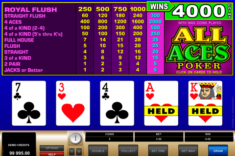 all aces poker microgaming poker aparate