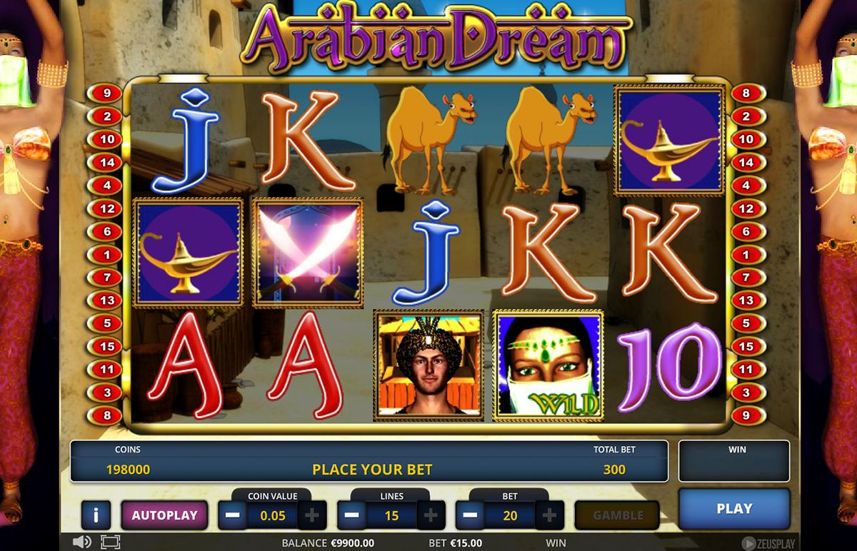 arabian dream zeus play pacanele