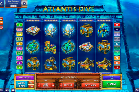atlantis dive gamesos pacanele