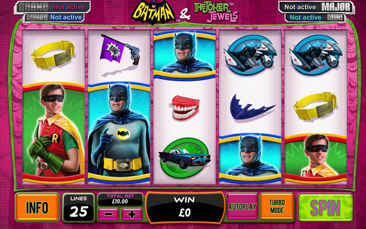 batman the joker jewels playtech pacanele
