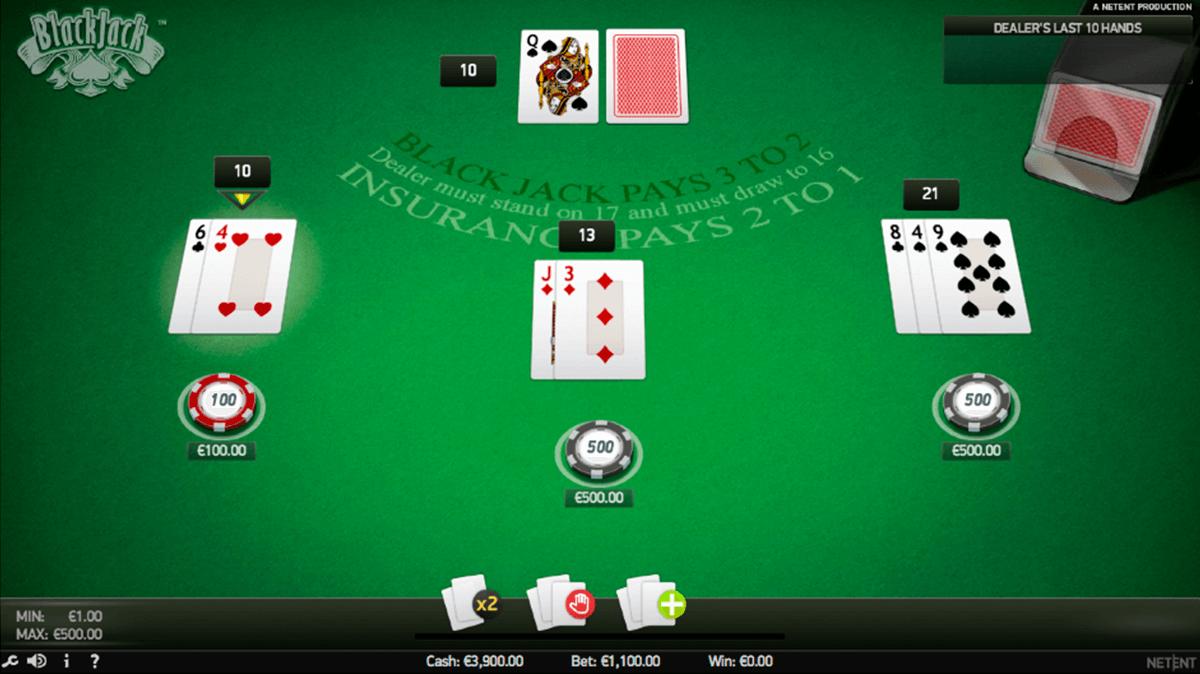 blackjack pro netent online
