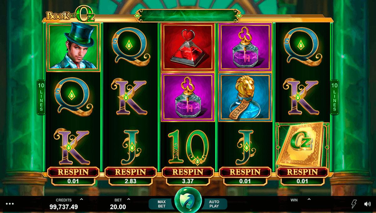 book of oz microgaming pacanele