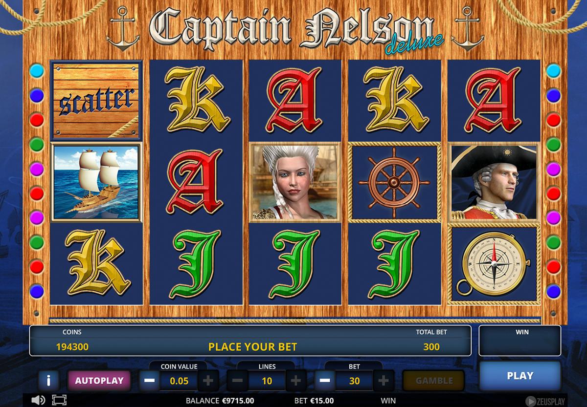 captain nelson deluxe zeus play pacanele