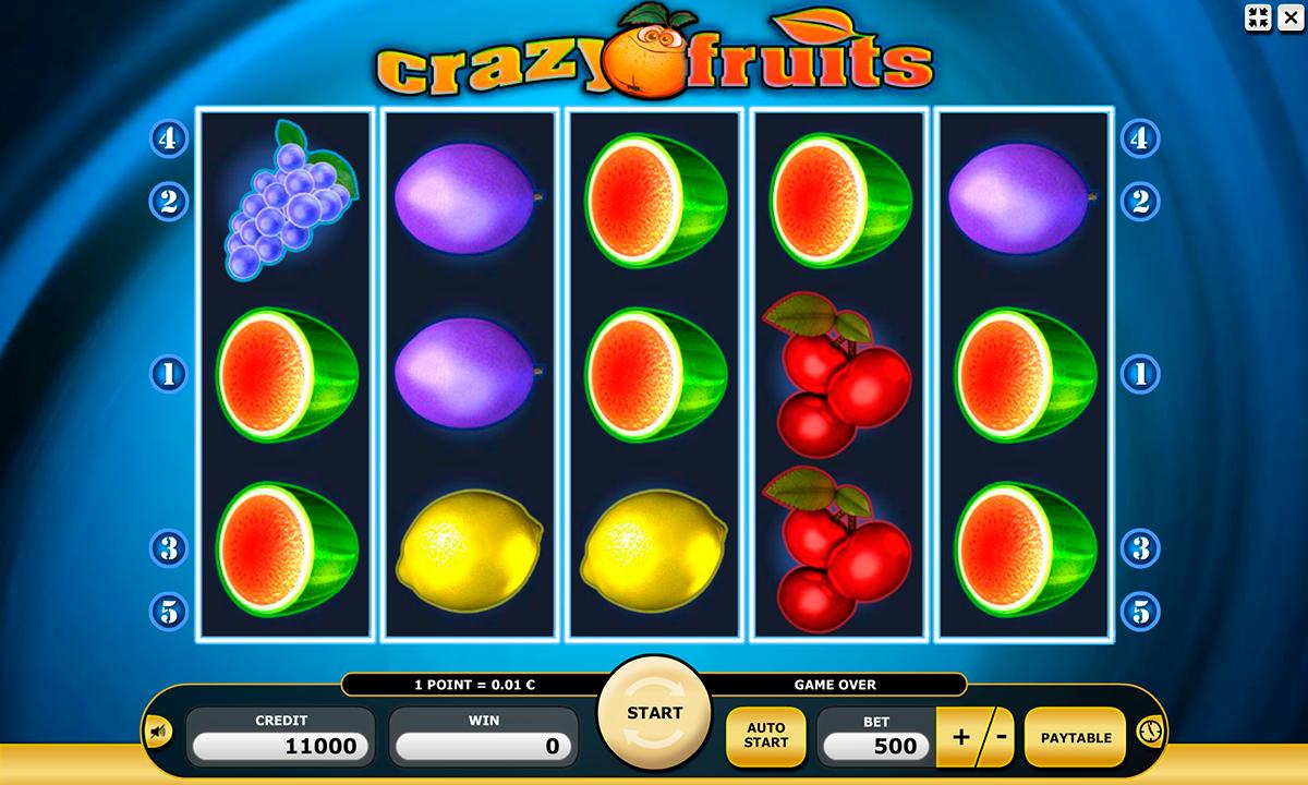 crazy fruits kajot pacanele