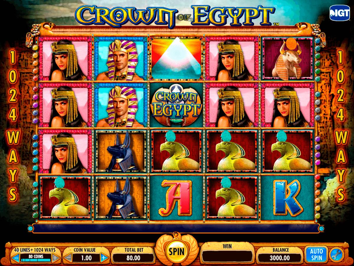 Crown of egypt slot machine online