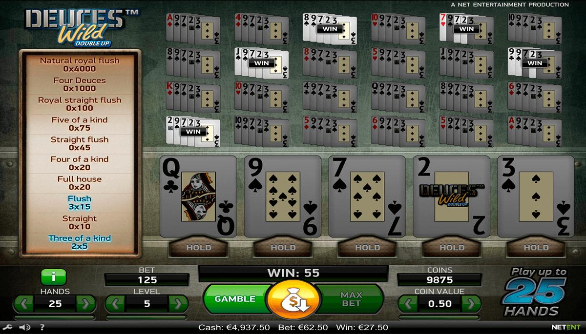 deuces wild netent poker aparate