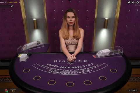 diamond vip live blackjack evolution gaming online