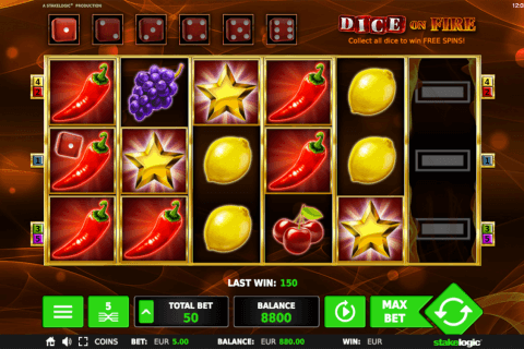 dice on fire stake logic pacanele