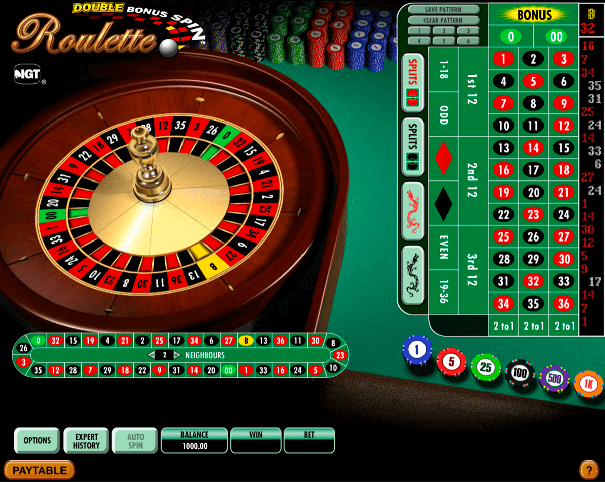 double bonus spin roulette igt ruleta