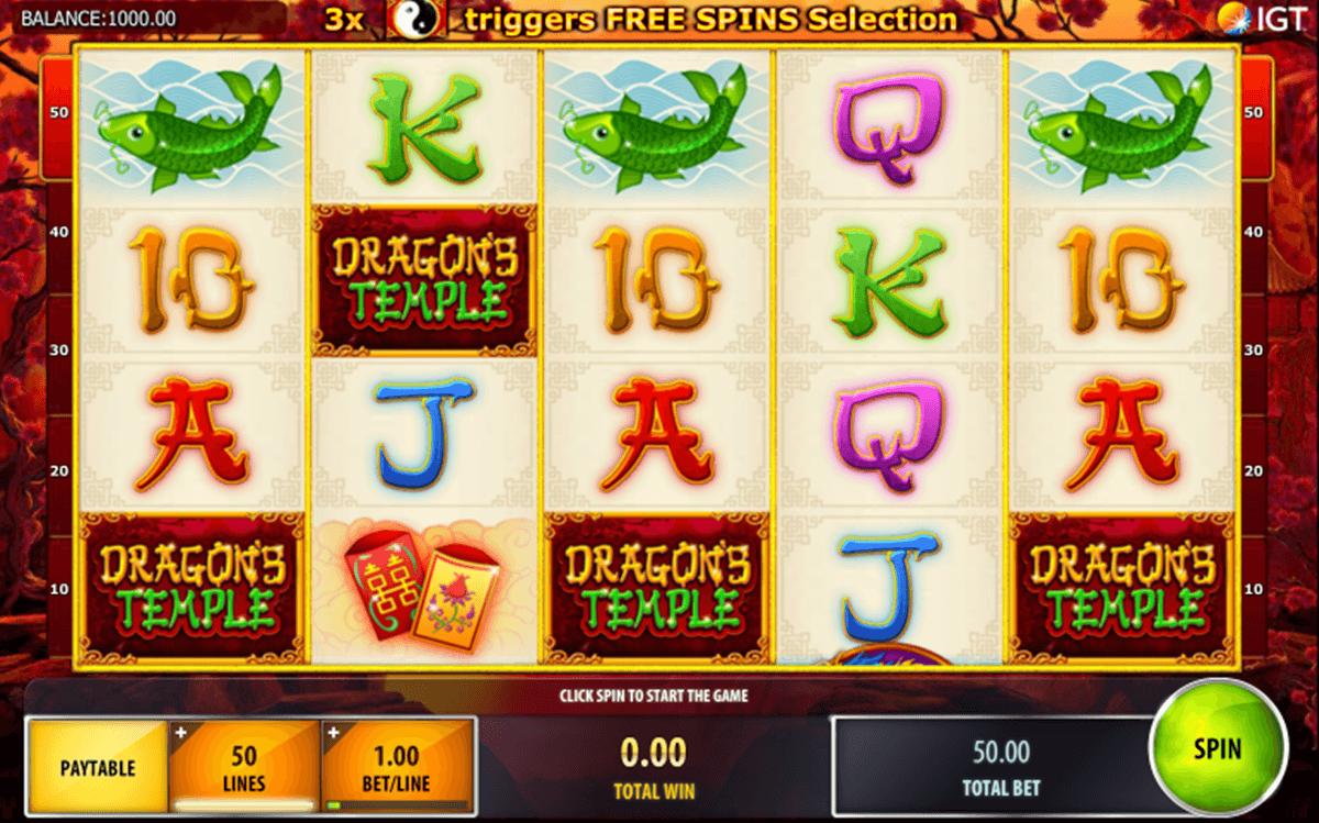 dragons temple igt pacanele