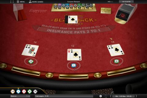 european blackjack espresso games online