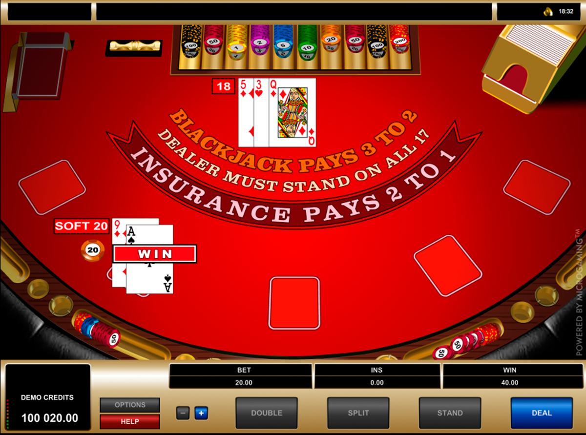 european blackjack microgaming online