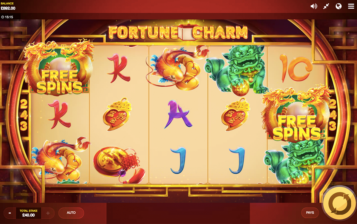 fortune charm red tiger pacanele