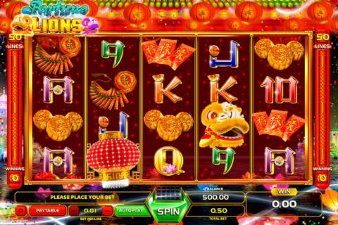 fortune lions gameart pacanele
