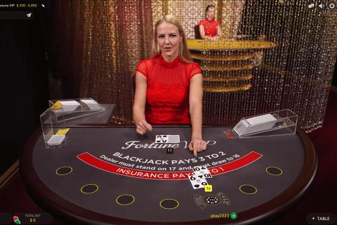 fortune vip blackjack evolution gaming online