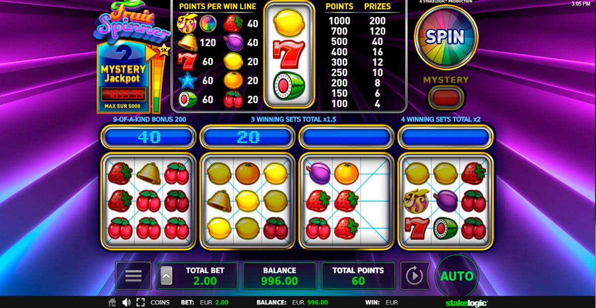 fruit spinner stake logic pacanele