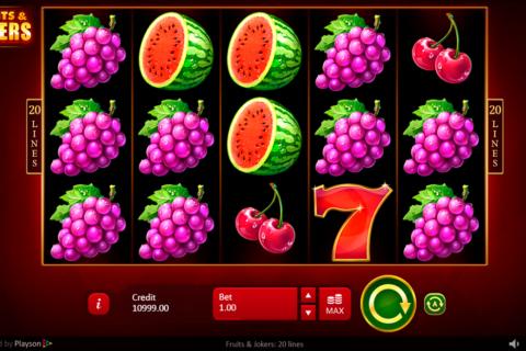 fruits jokers  lines playson pacanele