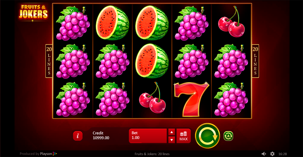 Spiele Fruits & Jokers: 20 Lines - Video Slots Online