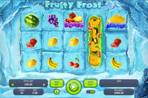 fruity frost booongo pacanele