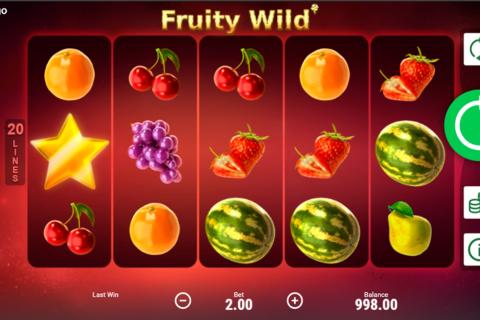 fruity wild booongo pacanele