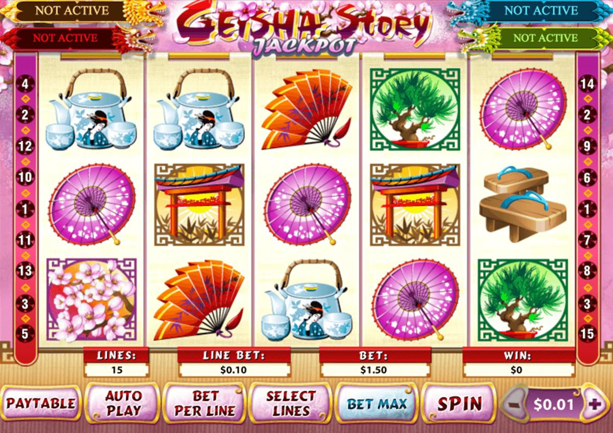 geisha story jackpot playtech pacanele