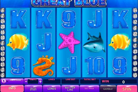 great blue playtech pacanele