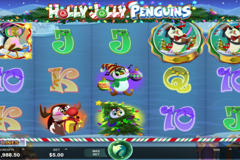 holly jolly penguins microgaming pacanele