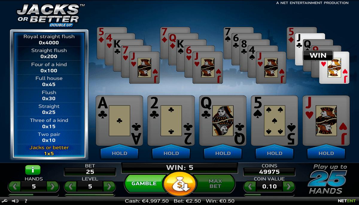 jacks or better netent poker aparate