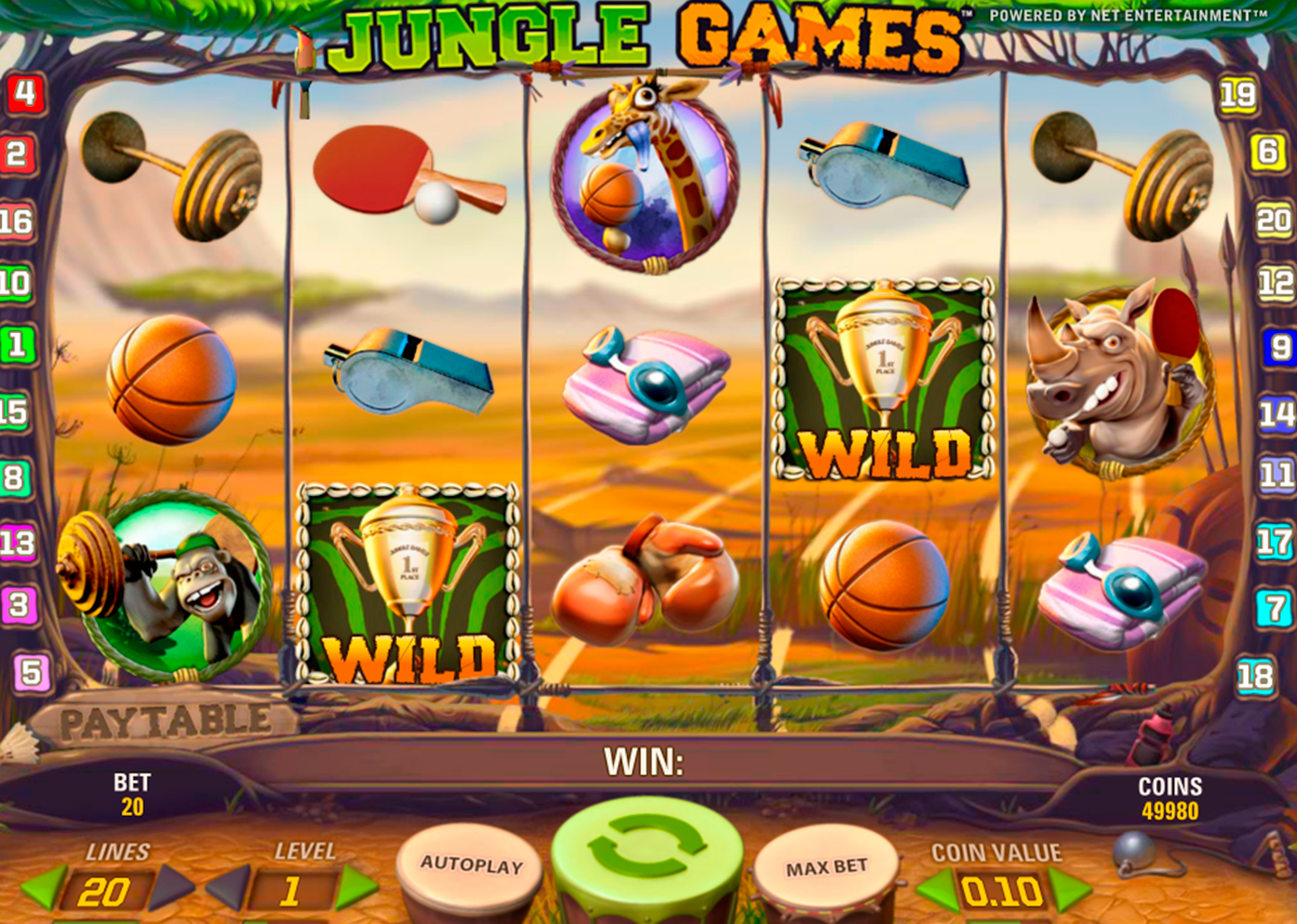 jungle games netent pacanele