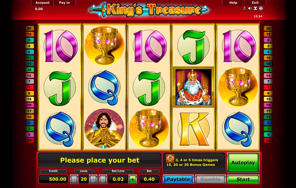 kings treasure novomatic pacanele