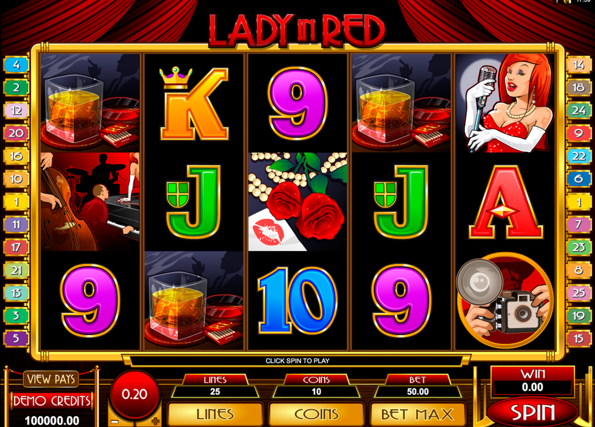 lady in red microgaming pacanele
