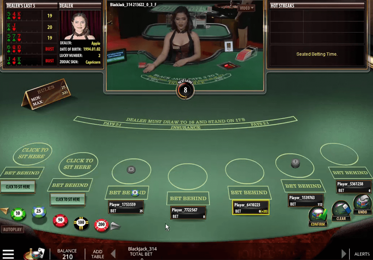 live blackjack microgaming online