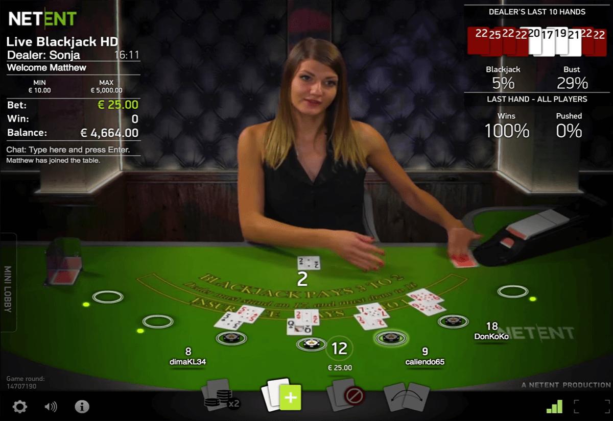 Blackjack Online Live