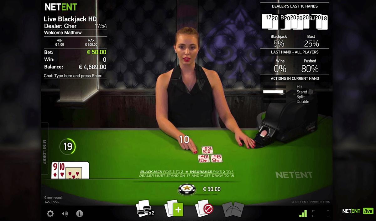 live common draw blackjack netent online