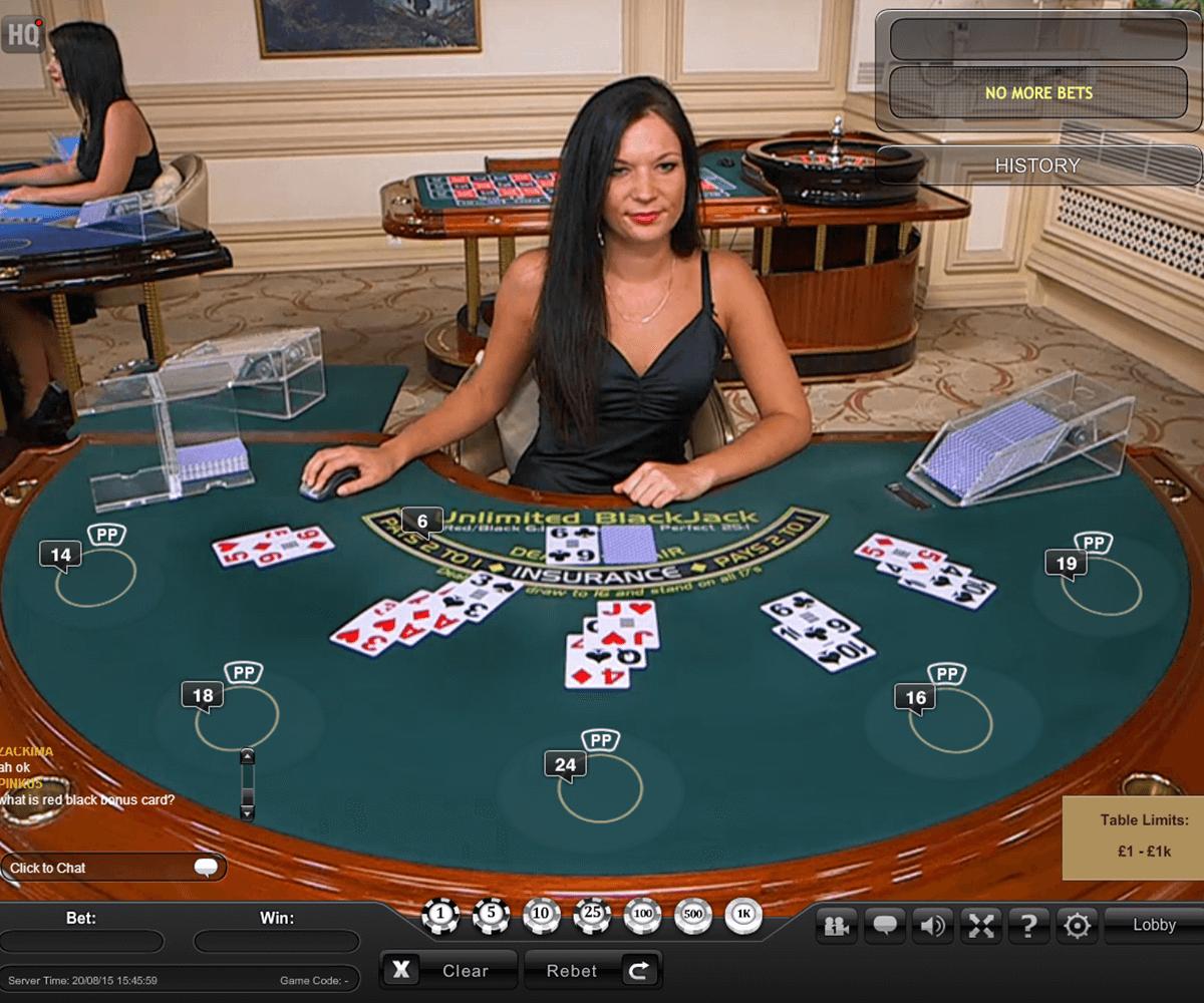 live unlimited blackjack playtech online