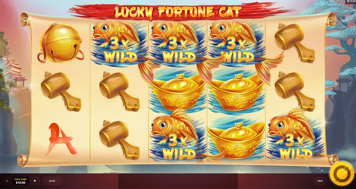 lucky fortune cat red tiger pacanele