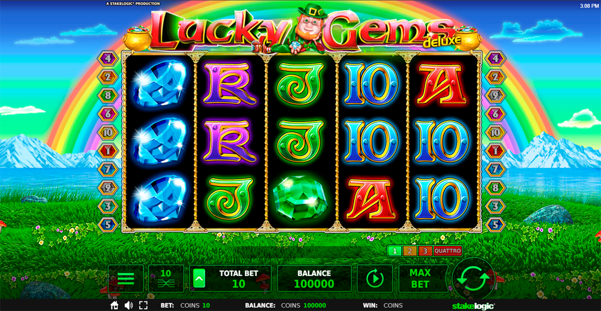 lucky gems deluxe stake logic pacanele