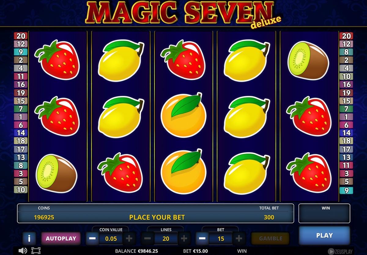 magic seven deluxe zeus play pacanele