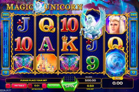 magic unicorn gameart pacanele