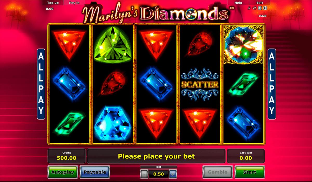 marilyns diamonds novomatic pacanele