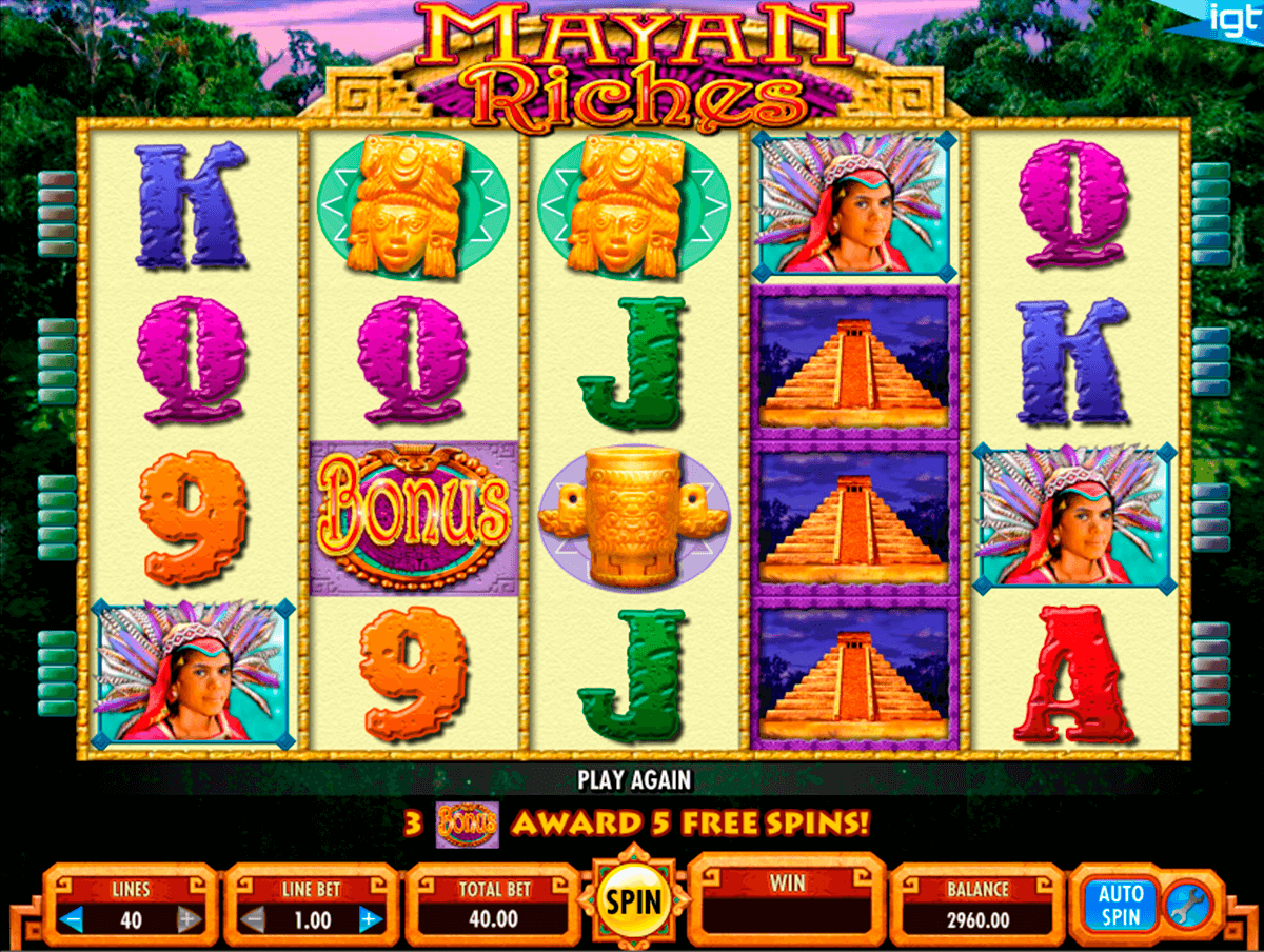 mayan riches igt pacanele