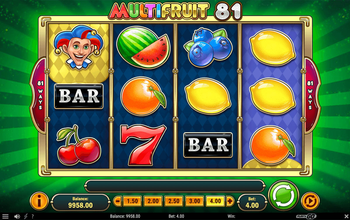 multifruit 81 playn go pacanele