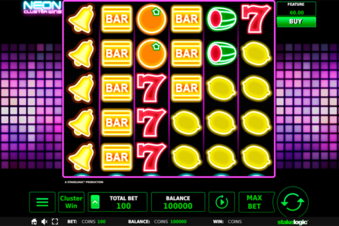 neon cluster wins stake logic pacanele