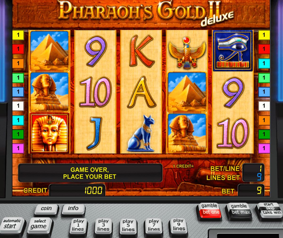 pharaohs gold ii deluxe novomatic pacanele