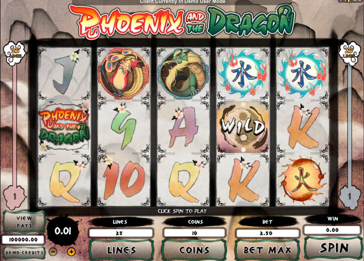 phoenix and the dragon microgaming pacanele