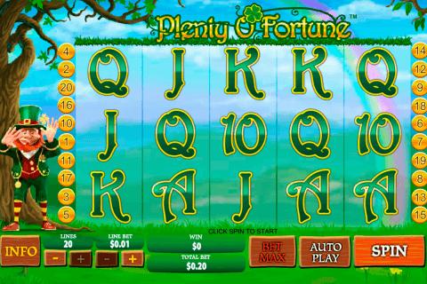 plenty o fortune playtech pacanele