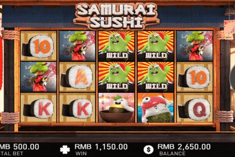 samurai sushi gameplay interactive pacanele