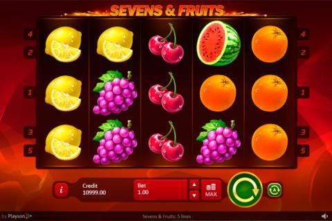 sevensfruits playson pacanele