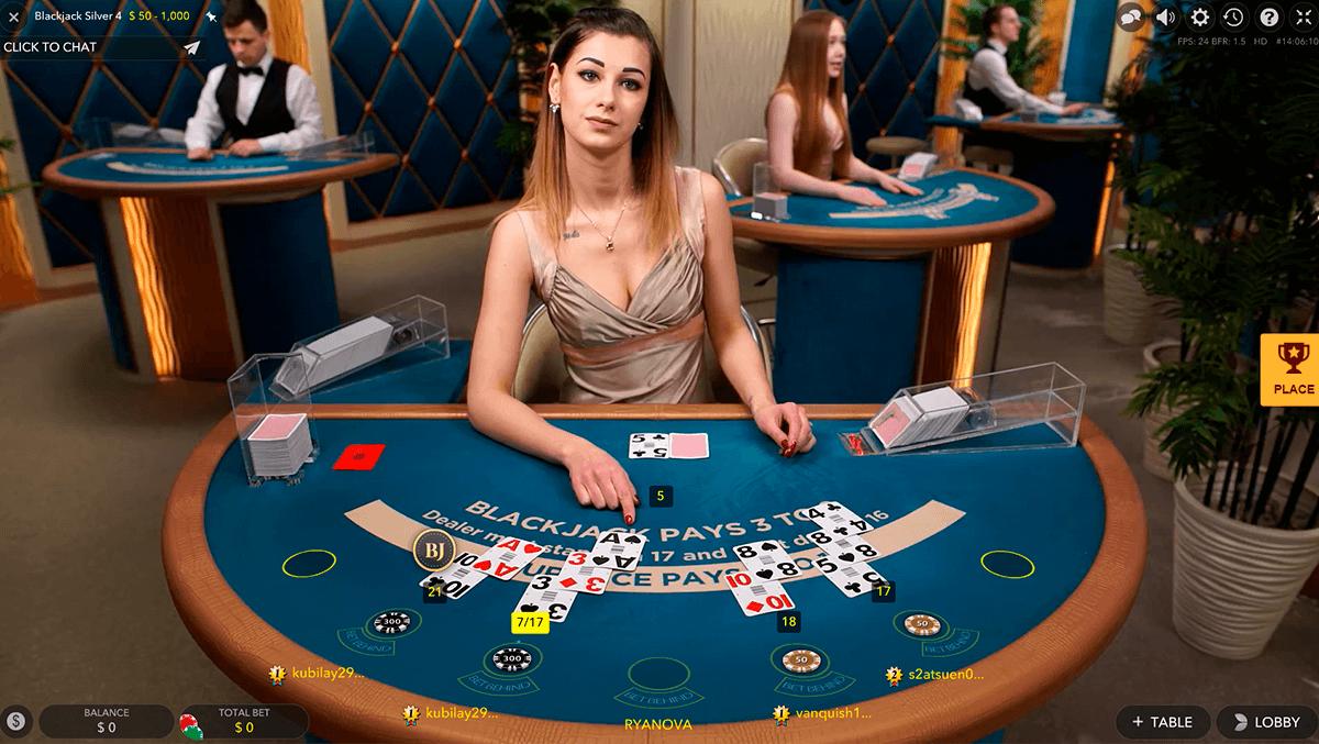 silver vip live blackjack evolution gaming online